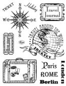 Viva Decor Clear Silicone A5 Stamp Set - Paris Rome Berlin - 4003 113 00